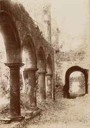 Bassein, Thana District. Colonnade in the monastery of the Jesuits